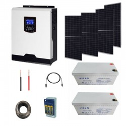 Solar Kit 3kva with2.4 kw storage