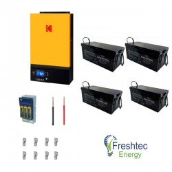 Kodak King 5kw Backup Kit with 9.6kw Gel Storage
