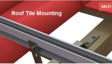 Tile roof panel mounting